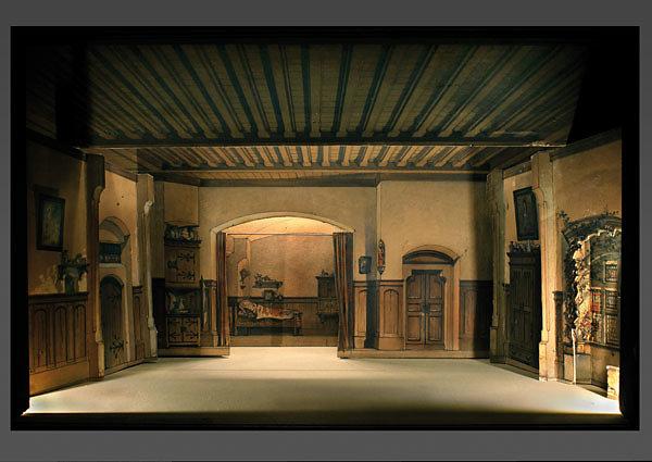 Angelo Quaglio - Faust / Gretchenzimmer - 1875   Nationaltheater München